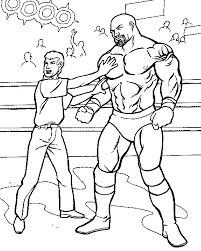 Marvelous Wrestling Coloring Pages 94 About Remodel Free Coloring