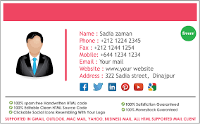 Email Signature Html Provide Html Email Signature By Sadiazaman