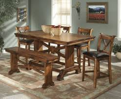 room fascinating counter height table: addison white and cherry wood pub table set