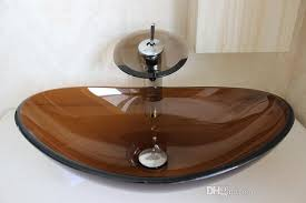 2018 glass bowl sinks glass sink basin tempered glass basin brown color from tracygao11 88 05 dhgate com