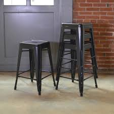 cheap wooden bar stools. Stackable Metal Bar Stool In Black (Set Of 4 Cheap Wooden Stools