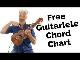Free Guitarlele Chord Chart Uke Like The Pros Youtube