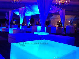 led lighted coffee table for nightclubs