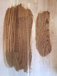 choosing wood floor stain color on white oak golden brown and special walnut