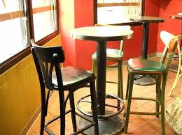tall table set retro bistro design with 4 pieces pub style kitchen tables set sy footrest tall