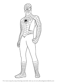 High quality free printable pdf coloring, drawing, painting pages and books. How To Draw Spiderman Standing Step By Step Learn Drawing By This Tutorial For Kids And Adults Spiderman Drawing Spiderman Coloring Spiderman Painting