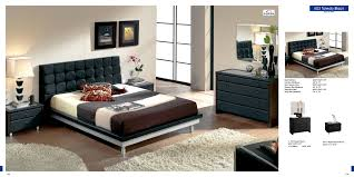 Modern Leather Bedroom Sets Black Contemporary Bedroom Furniture