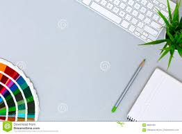 office color palette. Modern Grey Office Desk Flat Lay With Color Palette R