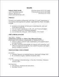Examples Of High School Student Resumes With No Work Experience