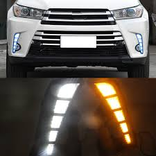 Blinking Maintenance Light Toyota Rav4 Us 63 0 25 Off Car Flashing 1 Pair Led Daytime Running Light Car Accessories 12v Drl Fog Lamp Decoration For Toyota Highlander 2018 2019 In Car