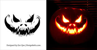 Free Printable Pumpkin Carving Patterns Simple 48 Free Printable Scary Halloween Pumpkin Carving Patterns 48