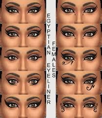 10 egyptian eyeliners by simmiller at mod the sims via sims 4 updates sick eye makeup egyptian makeup makeup and makeup