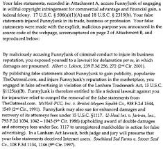 funnyjunk v the oatmeal threatened lawsuit going nowhere willful and thus potentially criminal copyright infringement and claims the allegedly false statements about funnyjunk constitute false advertising