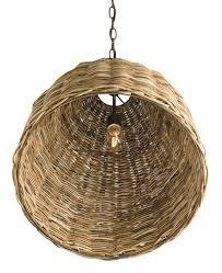basket dining pendant light