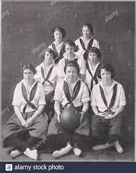 Circle (Abbot Academy yearbook) . HOCKEY TEAM Miriam Bickford {Captain),  c.h.Mary Talcott, l.w.Katharine Weld, c.f.Florence Hinckley, r.i.Lora  Barber, r.w. Frances Howe, r.h.Natalie Page, I.h.Elizabeth Weld, r.f.Anne  Whinery, l.f.Lydia Kunkel, Li. Anne ...