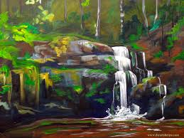 tree wall decor art youtube: serenity falls the full online lesson by the art sherpa https www