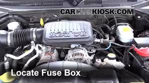 blown fuse check 1998 2003 dodge durango 2002 dodge durango slt locate engine fuse box and remove cover