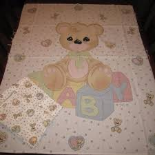 Find more Precious Moments Teddy Bear Fabric Panel Quilt / Wall ... & Precious Moments Teddy Bear Fabric Panel Quilt / Wall hanging Adamdwight.com
