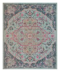 light blue navy artisan rug