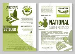 Poster Templet Landscape Design And Gardening Poster Template Royalty Free Cliparts
