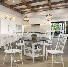 ann lee shaker style round dining table complete set