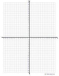 Four Quadrant Graph Paper One Per Page Printable Single