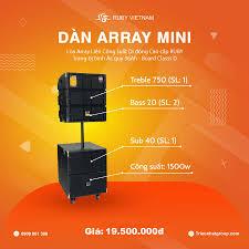 Loa kéo karaoke di động Array Mini | Công suất 1500w
