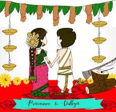 Cartoon Wedding Invitation Cards Designs Tamil Wedding Invitation Wedding Card Design Indian