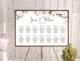 Seating Chart Wedding Ivory White Floral Wedding Seating Chart Free Wedding