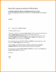 Confirmation Letter Of Employment For Visa Application Cool 8 Letter