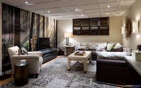 ... Stunning Exciting Basement Living Room Ideas Also Decor Ideas With  Basement Living Room ...