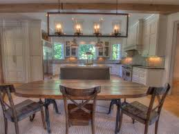 rustic kitchen with kitchen island flat panel cabinets in for amazing residence rustic rectangular chandelier designs