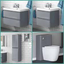 gloss gloss modular bathroom furniture collection vanity. Image Is Loading Modern-Grey-Gloss-Basin-Sink-Bathroom-Vanity-Unit- Gloss Modular Bathroom Furniture Collection Vanity