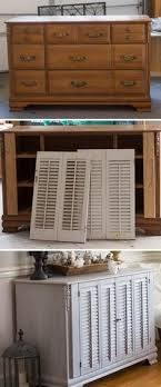 Diy repurposed furniture Dresser Old Dresser Makeover With Shutters Furniture Projects Redoing Furniture Refurbished Furniture Repurposed Pinterest 705 Best Furniture Repurpose Upcycle Images In 2019 Recycled