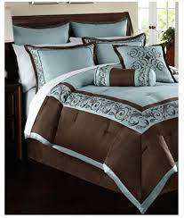 24 piece bedding set queen piece queen comforter set blue brown bedding sets twin target