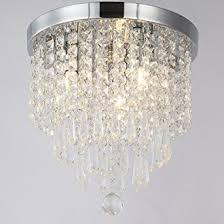 dining room lighting fixtures amazon. zeefo crystal chandeliers, modern pendant flush mount ceiling light fixtures, 3 lights, h10 dining room lighting fixtures amazon