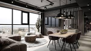 Full Apartment Interior Design Grey Modern Industrial Apartment Interiors