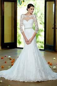 casamento 2017 new three quarter sleeve lace fishtail wedding