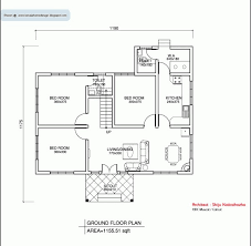 2 bedroom house plan kerala style three bedrooms in 1200 square feet