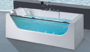 luxury glasses acrylic massage bathtub whirlpool bath nj3025