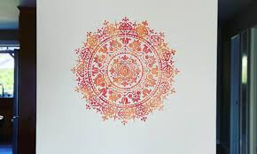 wall painting using stencils create
