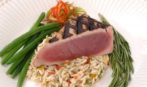 grilled yellowfin tuna with rosemary