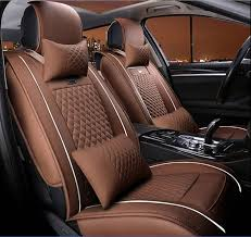 Moonet <b>Universal</b> 10PCS Full Set Car <b>Seat Cover PU</b> leather ...