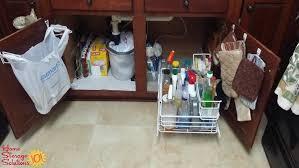 under kitchen sink cabinet. Organized Under Kitchen Sink Area Shown By A Reader, Joan, Who Took On This Cabinet M