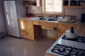 Kitchen Designed For Future Wheelchair Use. Doors Lift Off, Kickspace Pops  Off, And