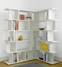 modern white bookcase  ira design