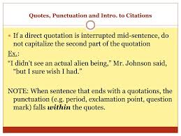Punctuation Quotes Ppt The Comma Quotes Punctuation And Intro To Citations