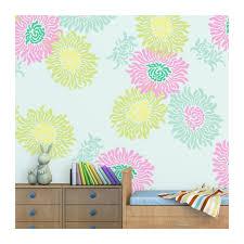 flower stencil jasmin large size reusable wall stencil better than decals