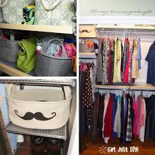 collage with images of after pics of closet makeover