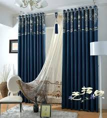 Navy Blue Curtains Semi Opaque Blackout Curtain In W X Canada Target ...